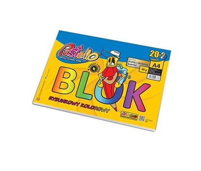 Picture of BLOK RYSUNKOWY A4 KOLOR 80G PASTELLO 20K 9178